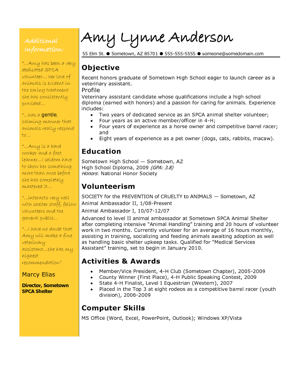 resume PlusPng.com  - Vet Assistant PNG