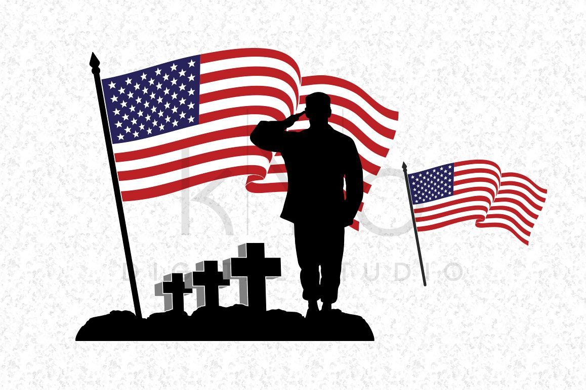 Fallen Soldier SVG Veterans Day SVG DXF PNG EPS Files American Flag Vector  US Flag Vector - Veter Ans Day PNG