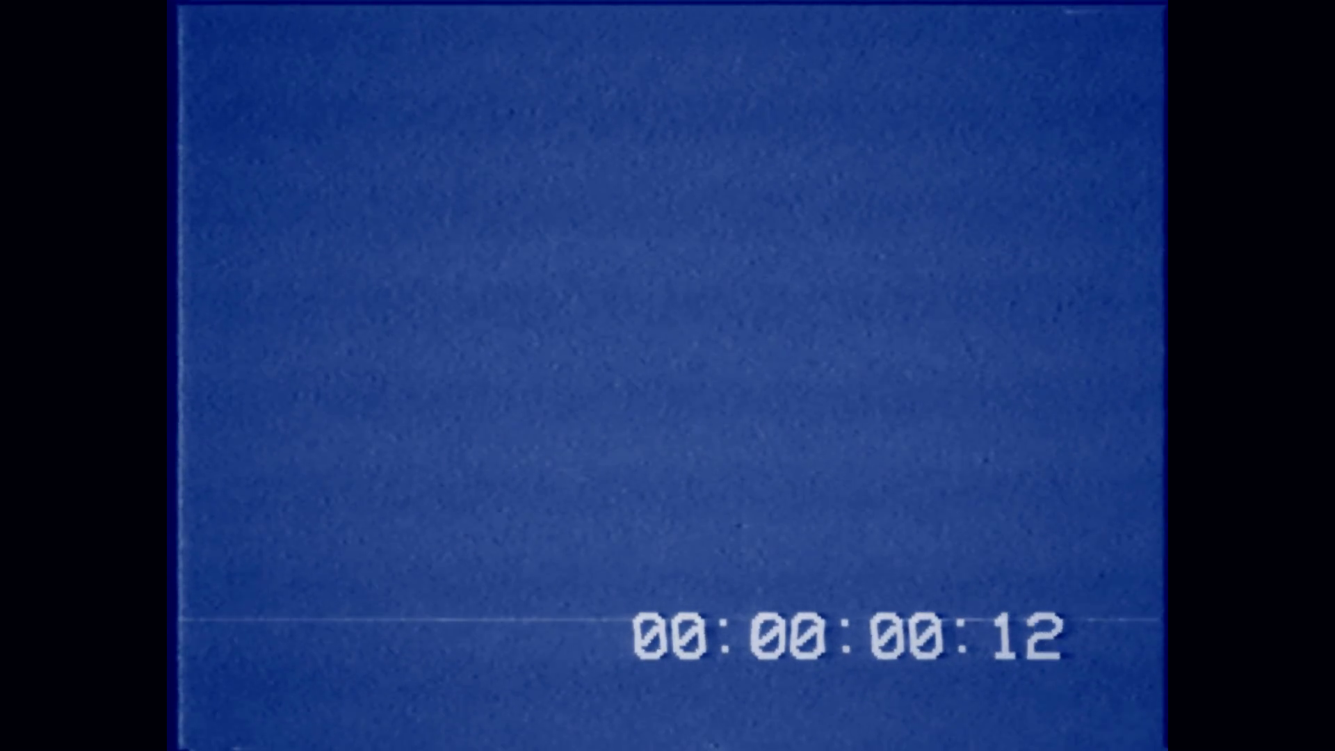 VHS bad 30 seconds timecode blue. An old bad VHS tape playing. Blue screen  with timecode. A vintage background for videos, a retro element. - Vhs PNG
