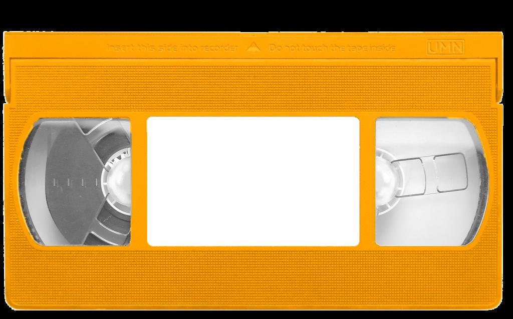 Orange VHS tape template by DJWalker2000 PlusPng.com  - Vhs Tape PNG