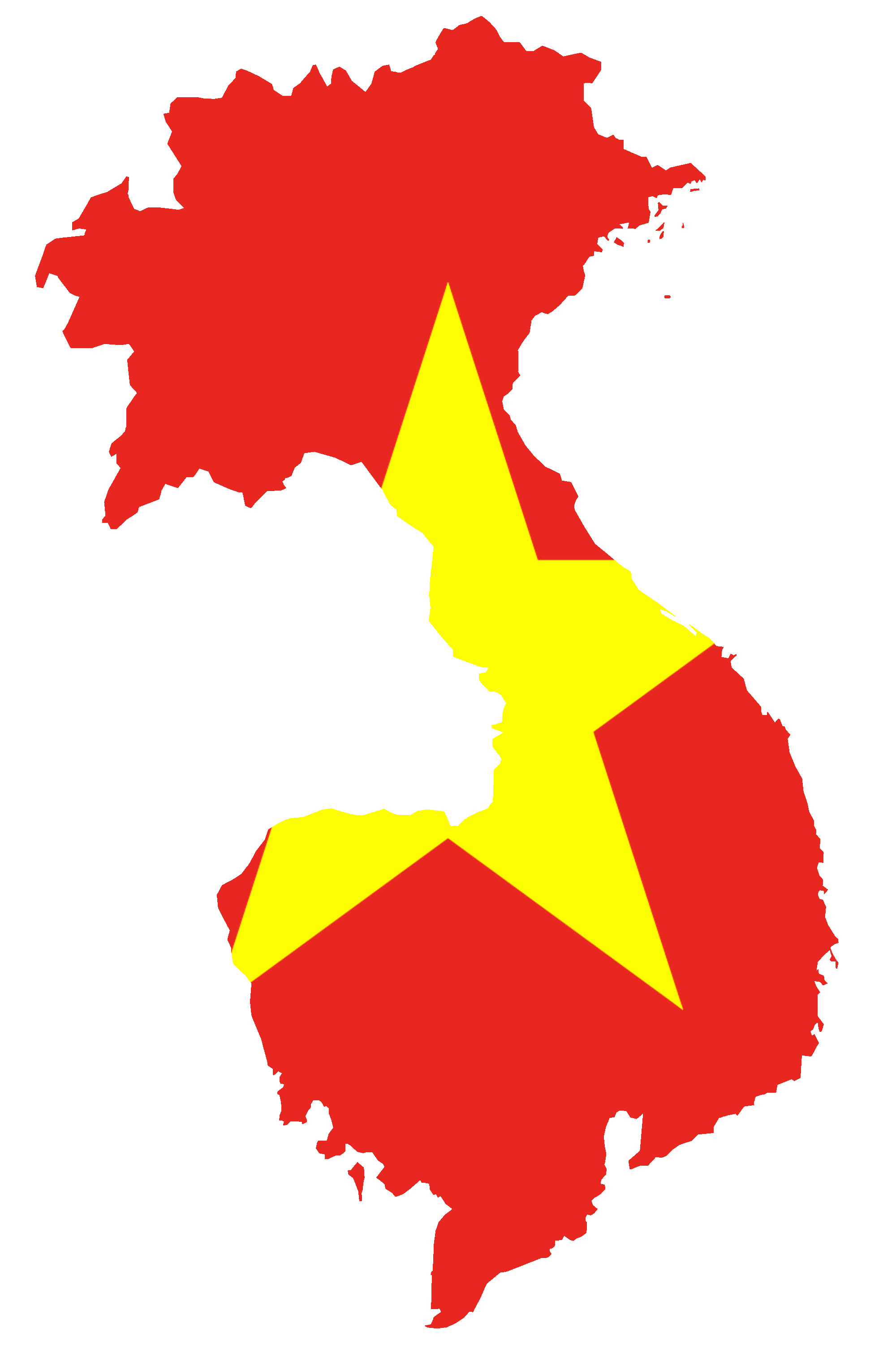 File:Flag map of Greater Vietnam.png - Vietnam PNG