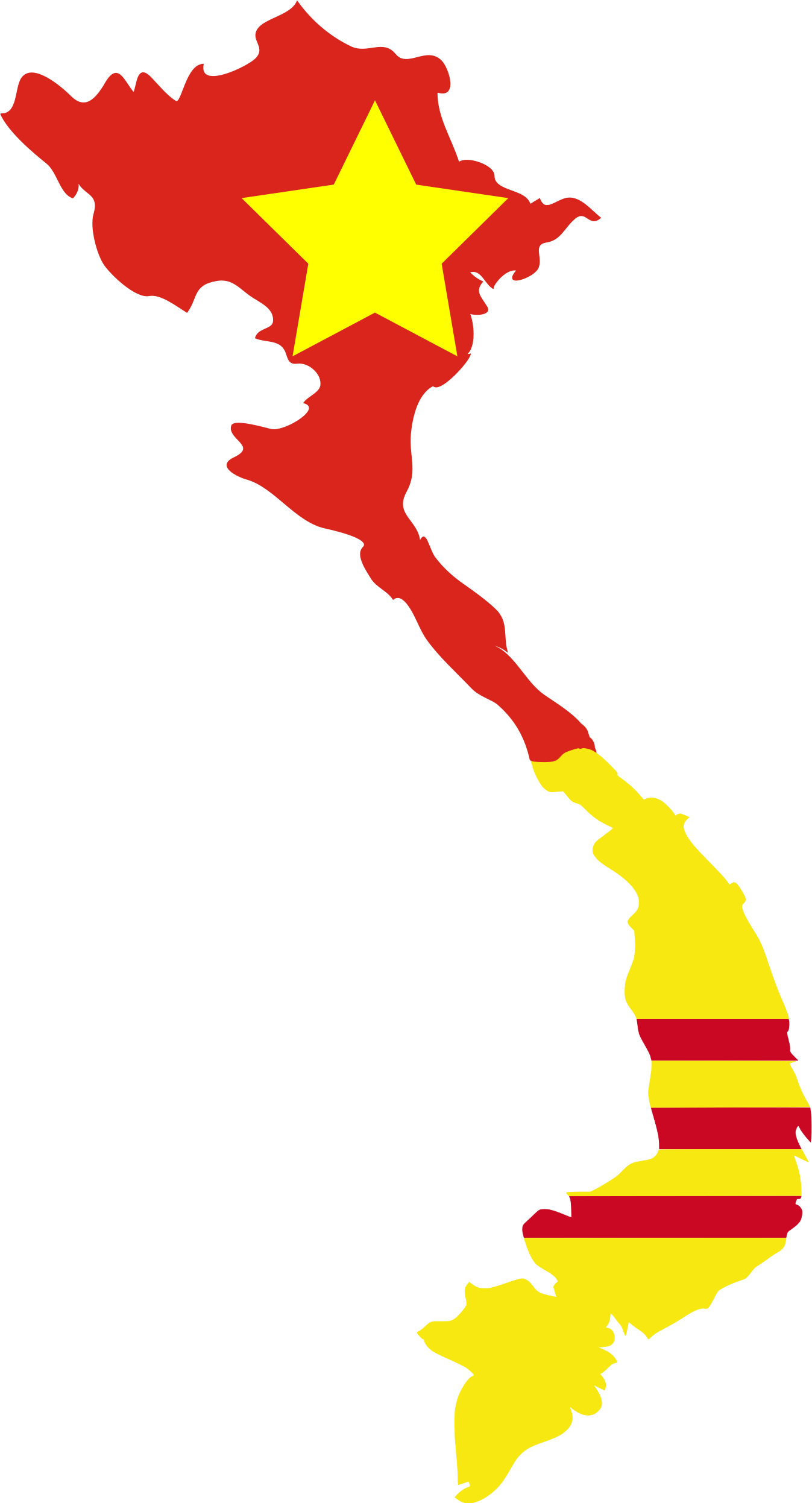 File:Flag map of North u0026 South Vietnam.png - Vietnam PNG