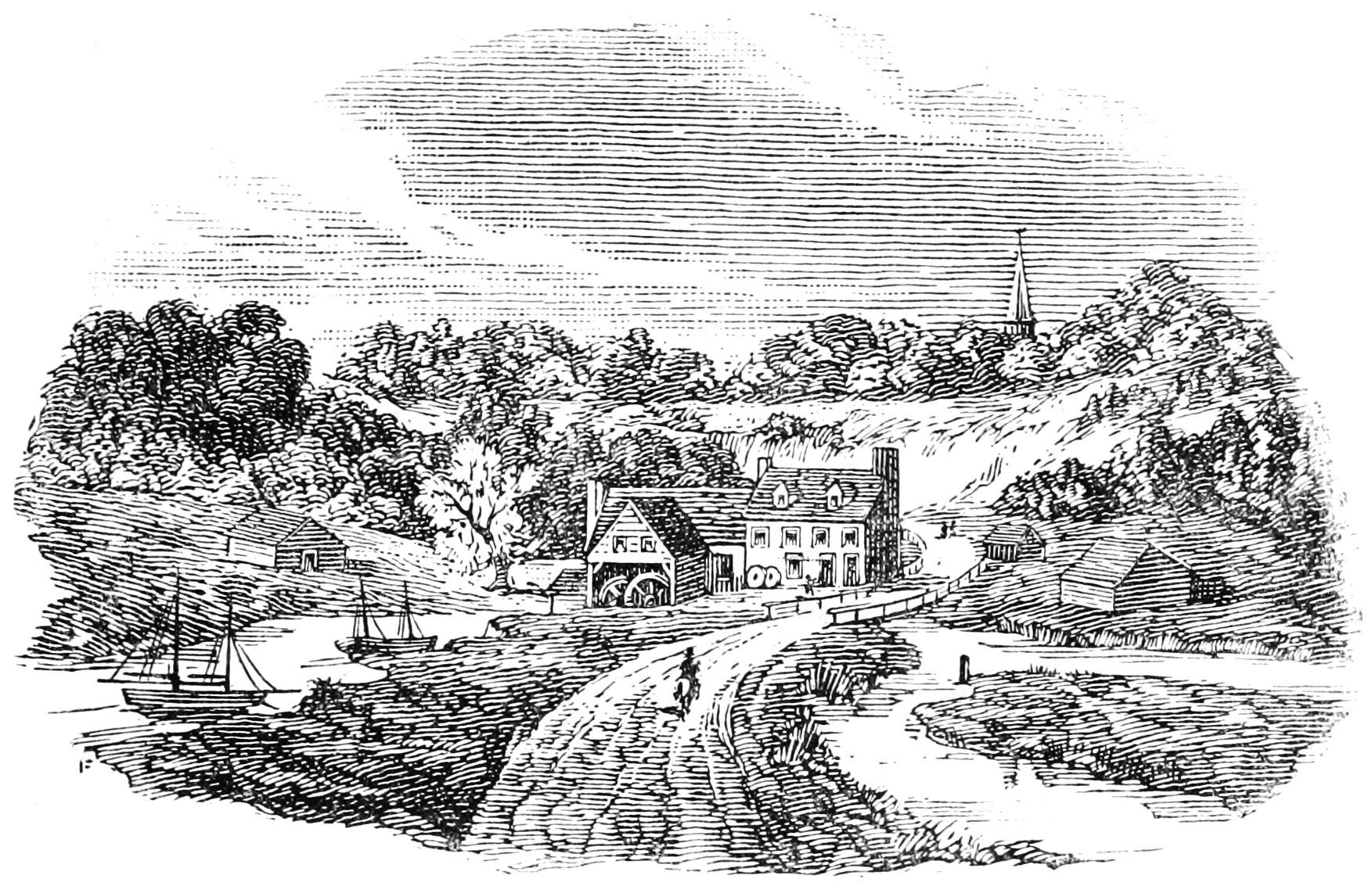 File:History of Hudson County and of the Old Village of Bergen 0017.png - Village PNG Black And White