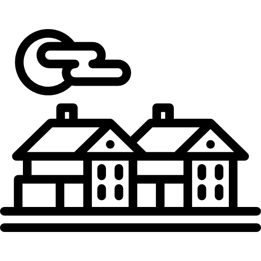 PNG SVG PlusPng.com  - Village PNG Black And White