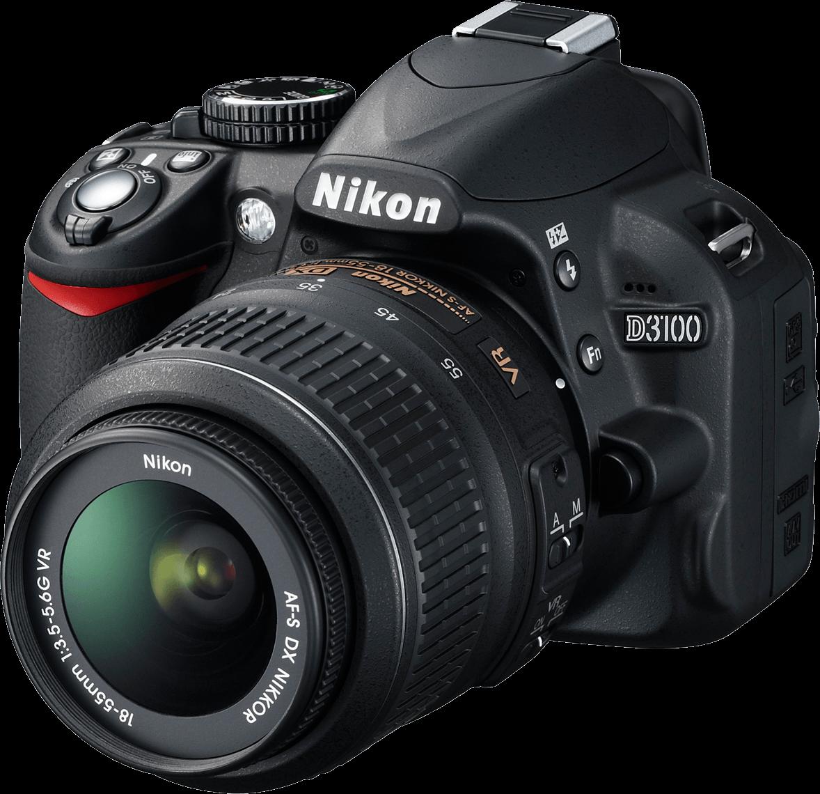 Nikon D 3100 Photo Camera - Vintage Camera PNG Nikon