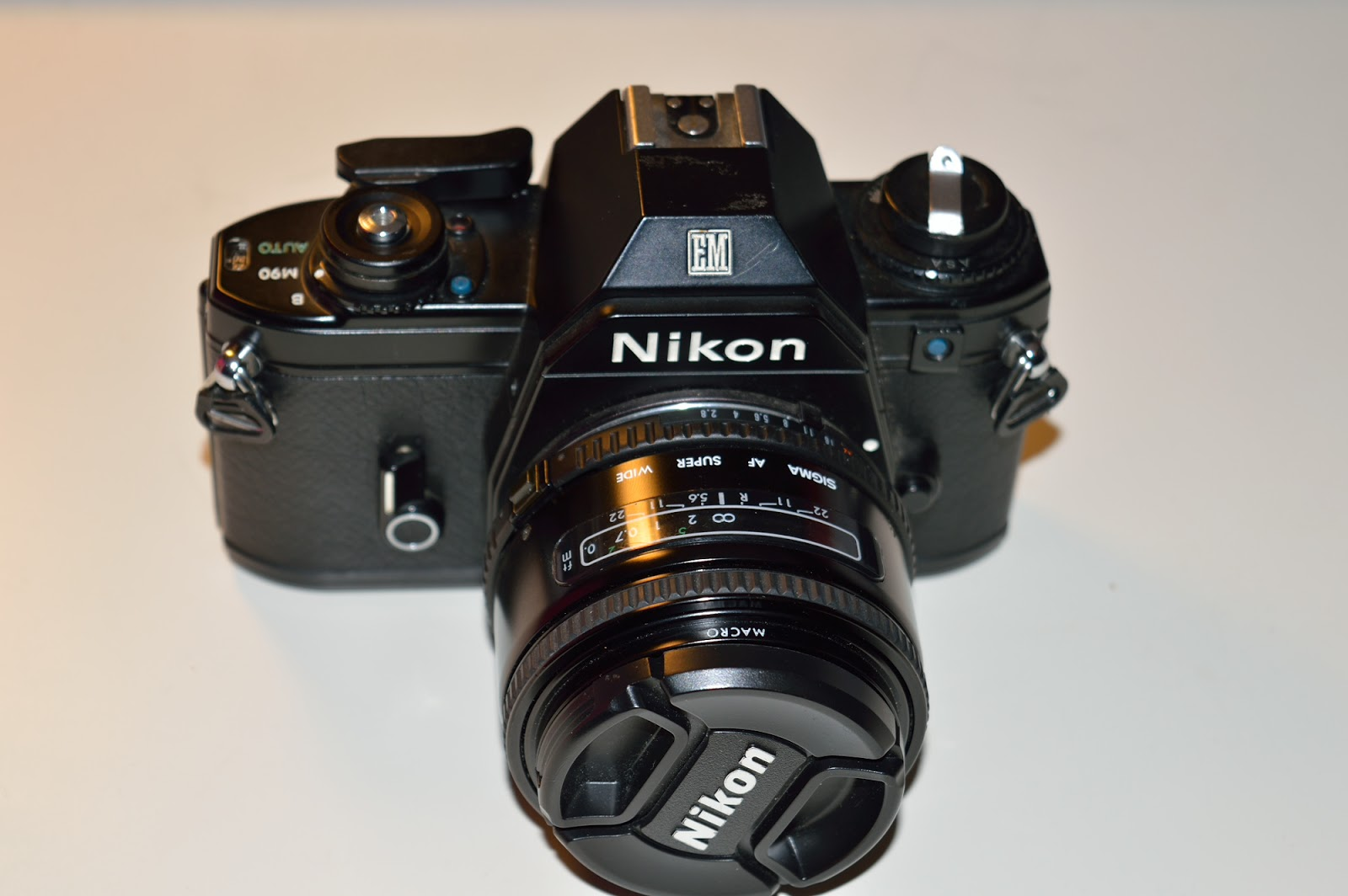 Nikon EM with the Sigma 24mm f/2.8 - Vintage Camera PNG Nikon