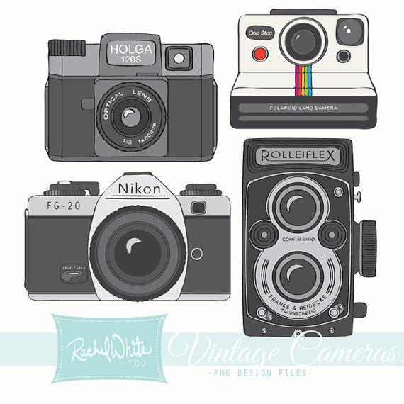 Old Camera Clipart - Vintage Camera PNG Nikon