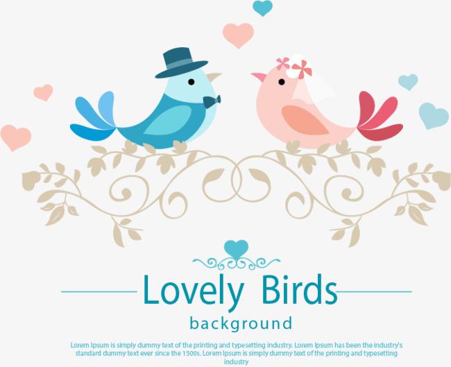 Vintage Love Birds PNG - 156538