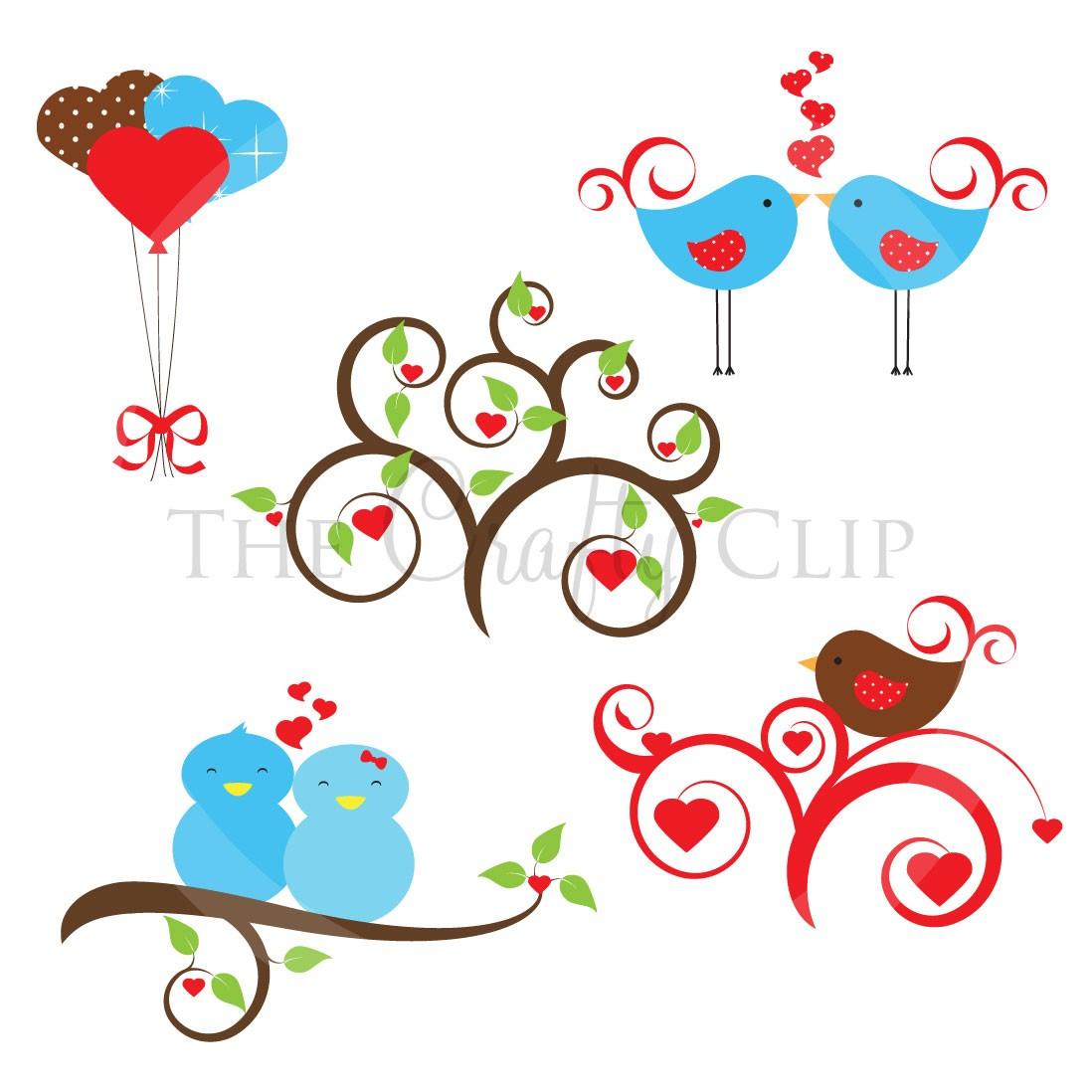 Vintage Love Birds PNG - 156542