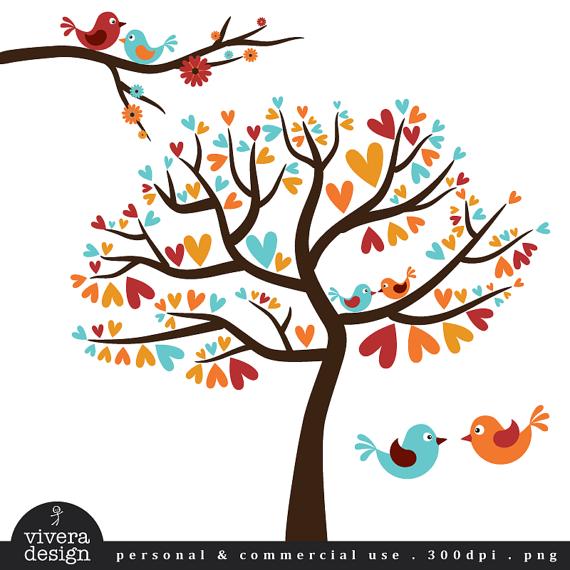 Vintage Love Birds PNG - 156535