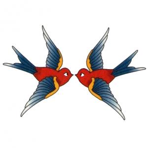 Vintage Love Birds PNG - 156543