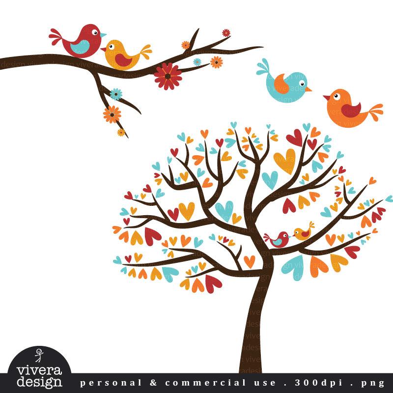 Vintage Love Birds PNG - 156541