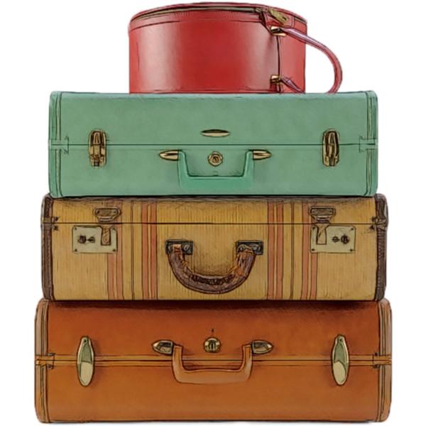 Vintage Luggage PNG - 44162