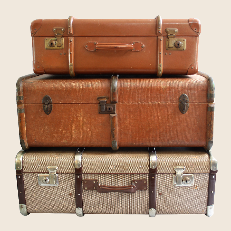 Classic Vintage Suitcase - Vintage Luggage PNG