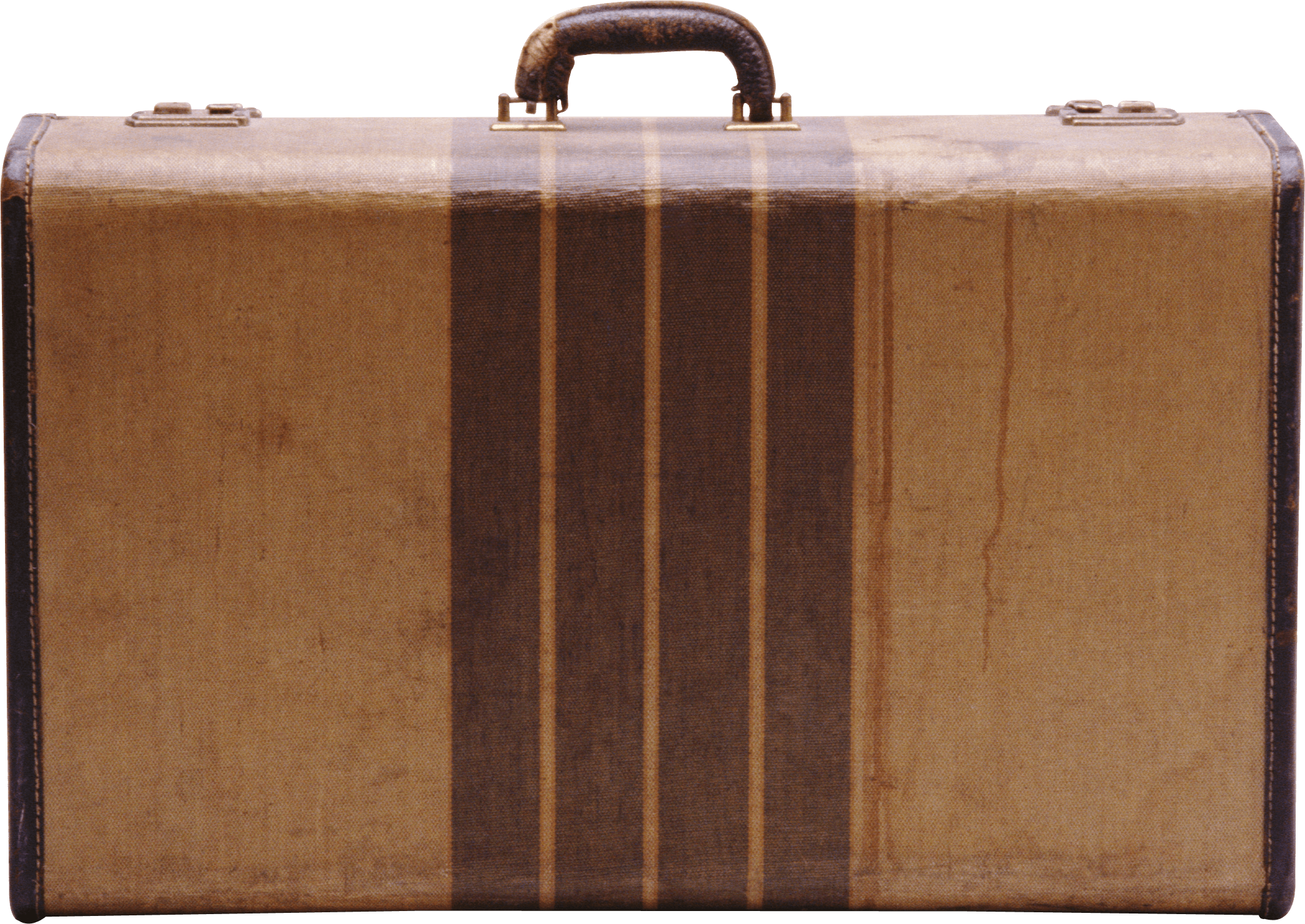 Vintage Cardboard Suitcase - Vintage Luggage PNG