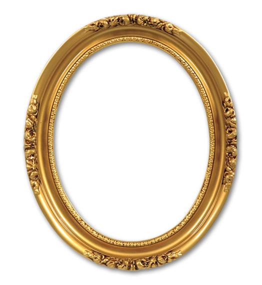 . PlusPng.com Antique Gold PlusPng.com  - Vintage Oval Frame PNG