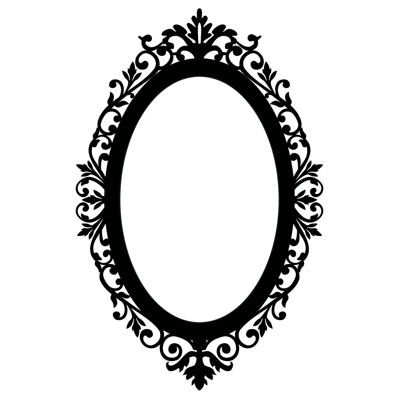 Ornate Oval Frame Wall Stickers / Wall Decals - Vintage Oval Frame PNG