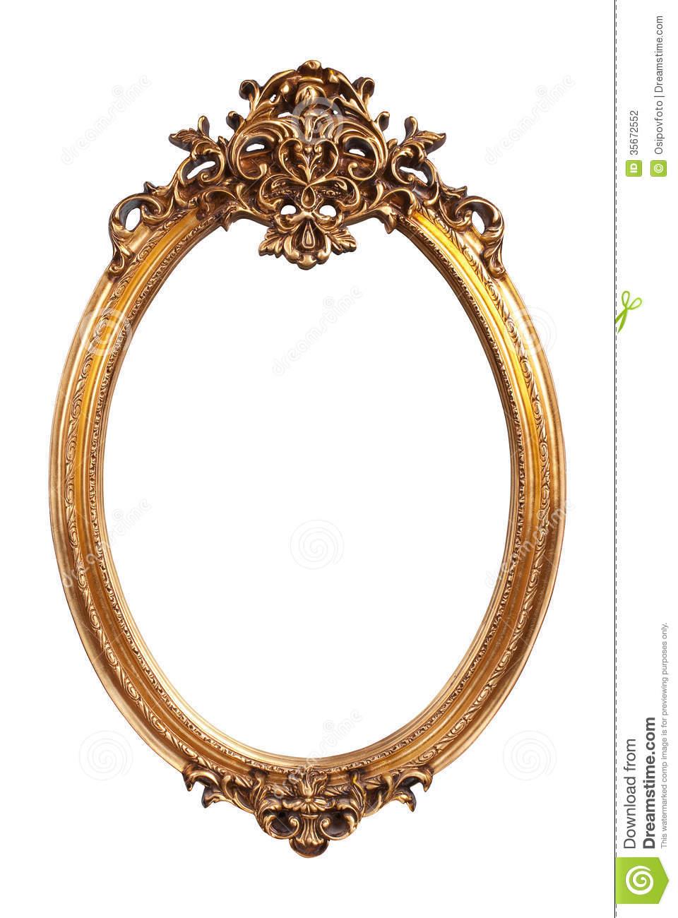 Vintage Oval Frame PNG - 73192