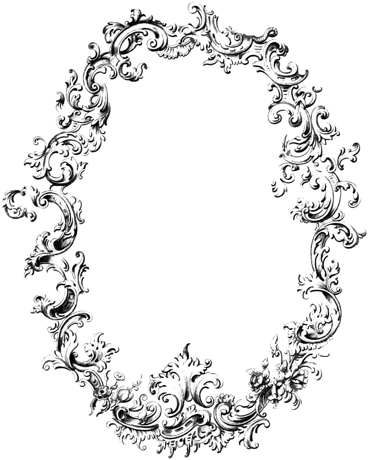 vgosn_vintage_fancy_frame_clip_art_image - Vintage Oval Frame PNG