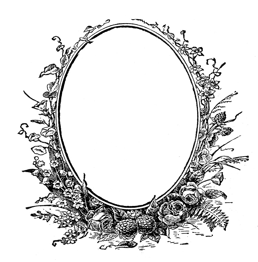Victorian Oval Frame Clipart