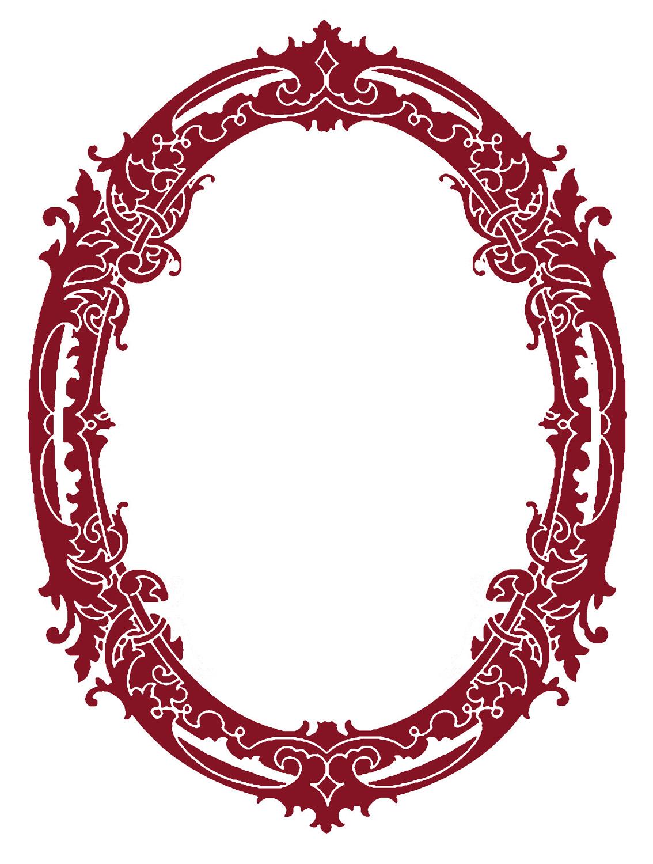 Vintage Oval Frame PNG - 73186