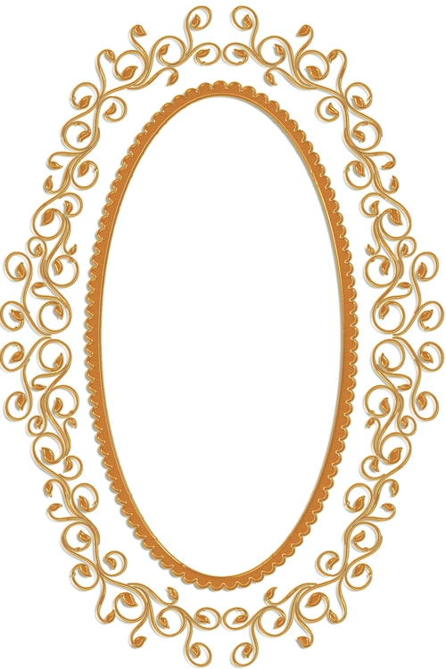 Vintage Oval Frame PNG - 73190
