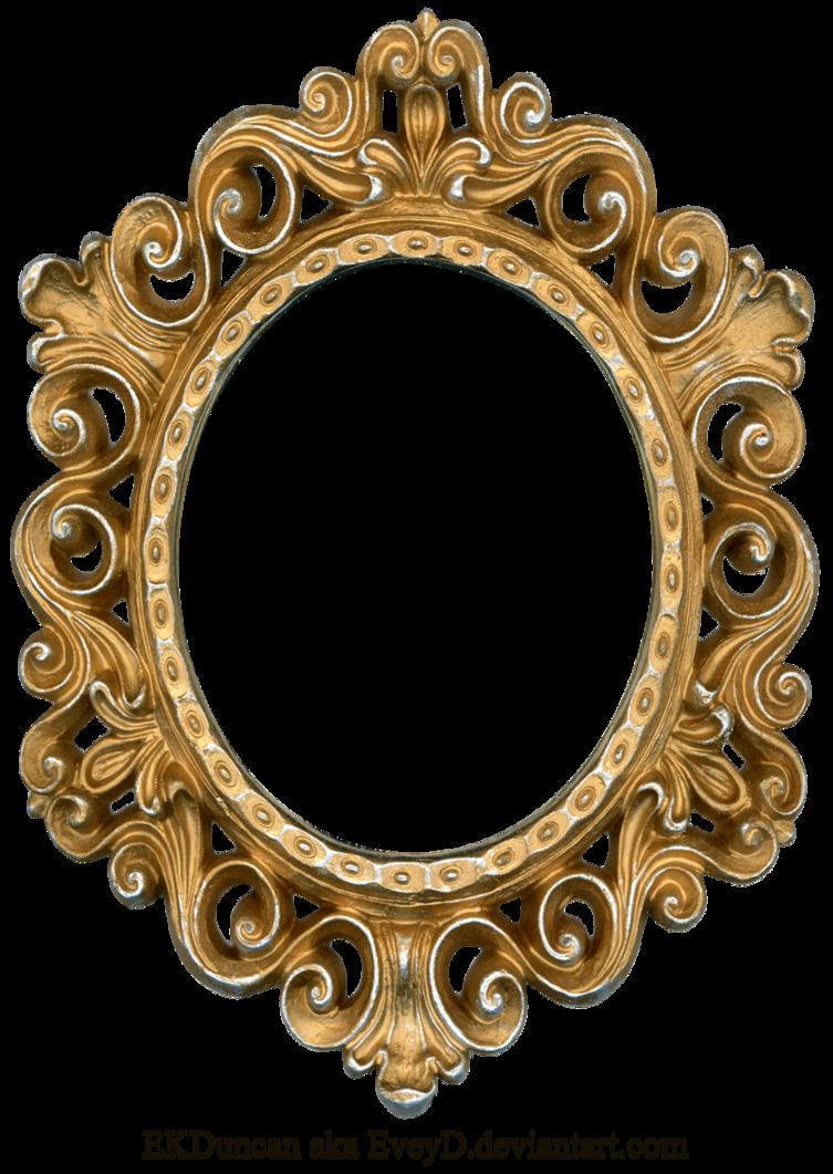 Vintage Gold and Silver Frame - Oval by EveyD PlusPng.com  - Vintage Oval Frame PNG