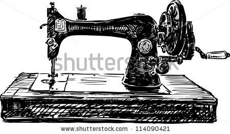 Vintage Sewing Machine PNG HD - 122570