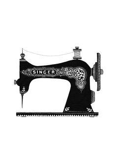 ON SALE Singer art Antique sewing machine Art print Blue | Kids Kraft |  Pinterest | Sewing rooms, Antique sewing machines and Vintage sewing - Vintage Sewing Machine PNG HD