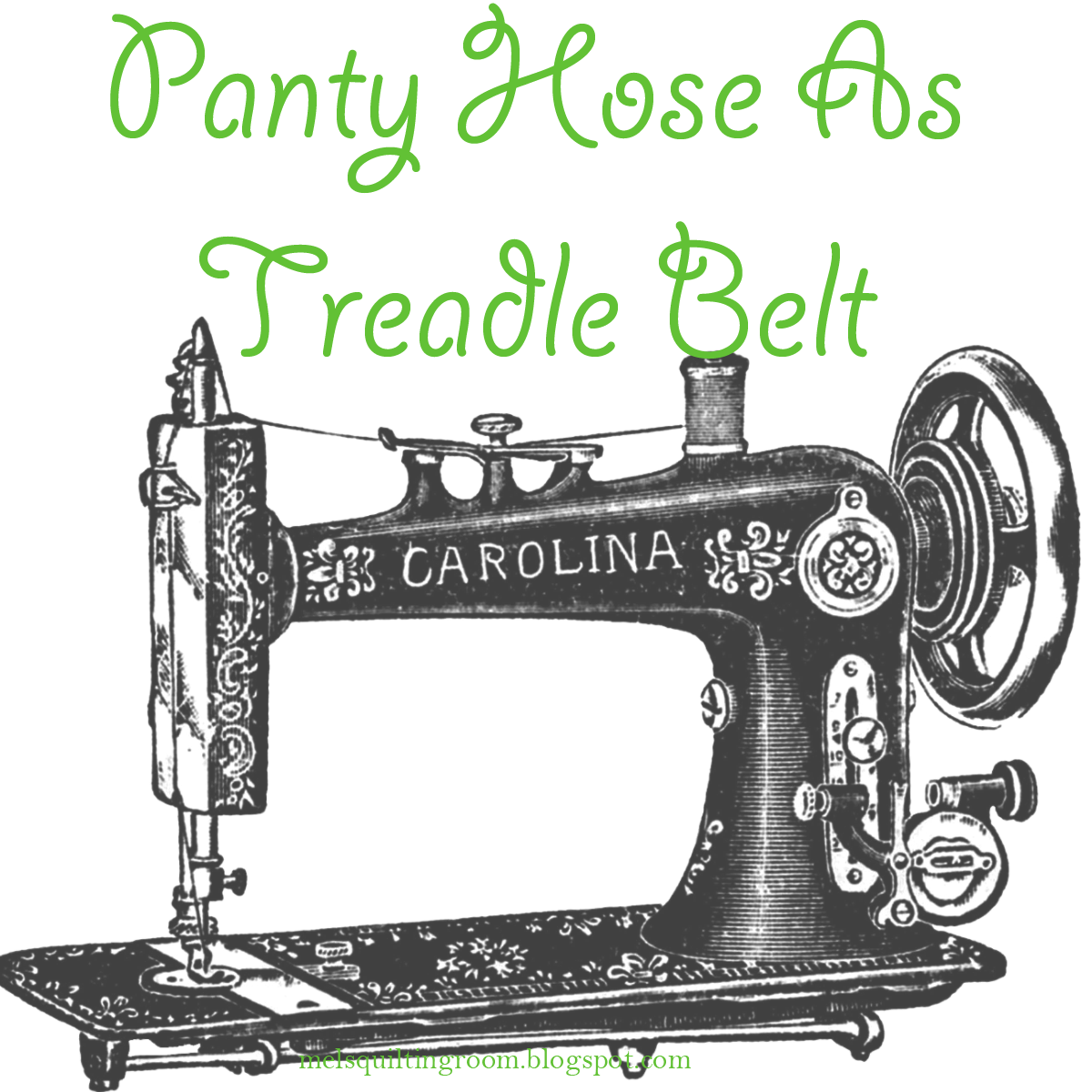 panty hose as treadle sewing machine belt - Vintage Sewing Machine PNG HD