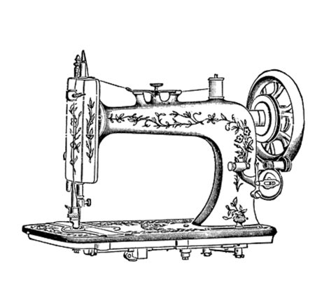 Rrrvintagesewingmachine_shop_preview. VINTAGE SEWING MACHINE fabric by  bluevelvet on Spoonflower PlusPng.com  - Vintage Sewing Machine PNG HD