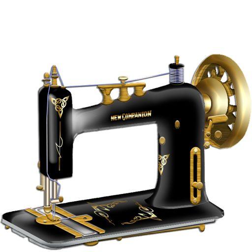 Serger Sewing Machine Clip Art - Free PNG Sewing Machine - Vintage Sewing Machine PNG HD