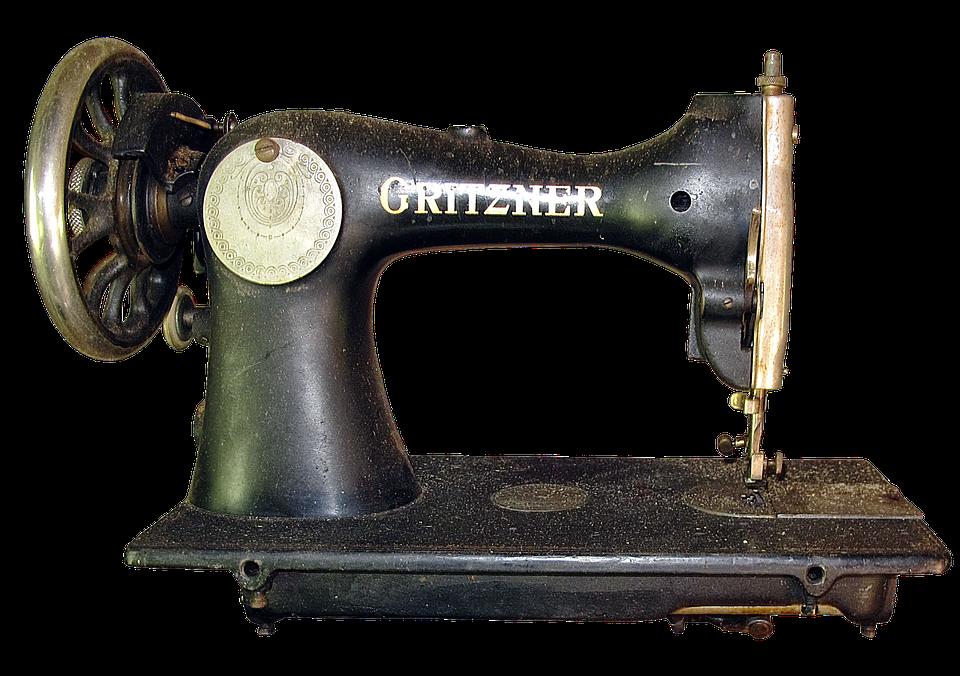 Vintage Sewing Machine PNG HD - 122575