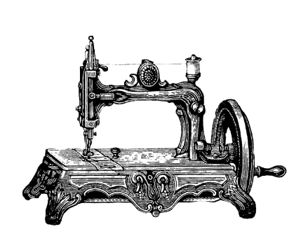 Sewing Machine clipart old fa