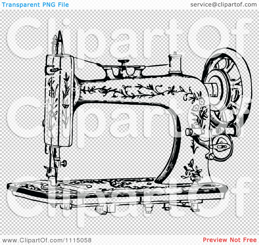 Victorian clipart antique sewing machine #10 - Vintage Sewing Machine PNG HD