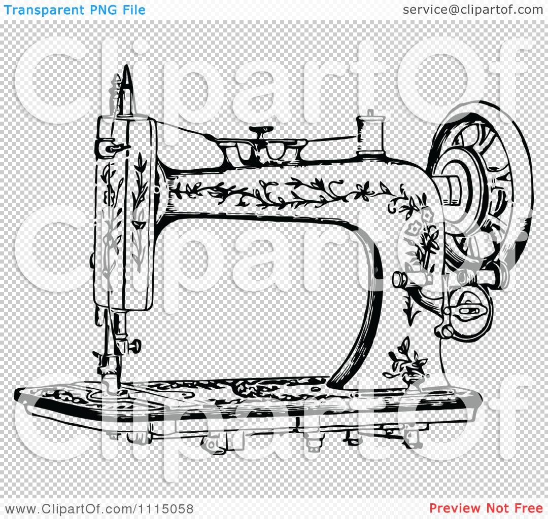 Vintage Sewing Machine PNG HD - 122573