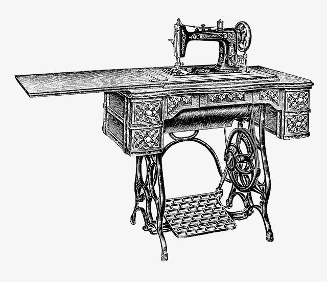 Vintage Sewing Machine PNG HD - 122562