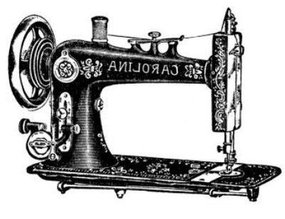Vintage Sewing Machine PNG HD - 122561