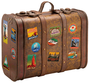 travel-suitcase.png (297×275) - Vintage Suitcase PNG