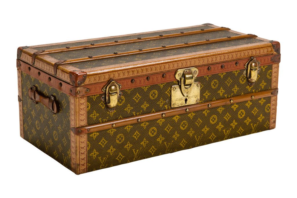 Vuitton Trunk Small - Vintage Suitcase PNG