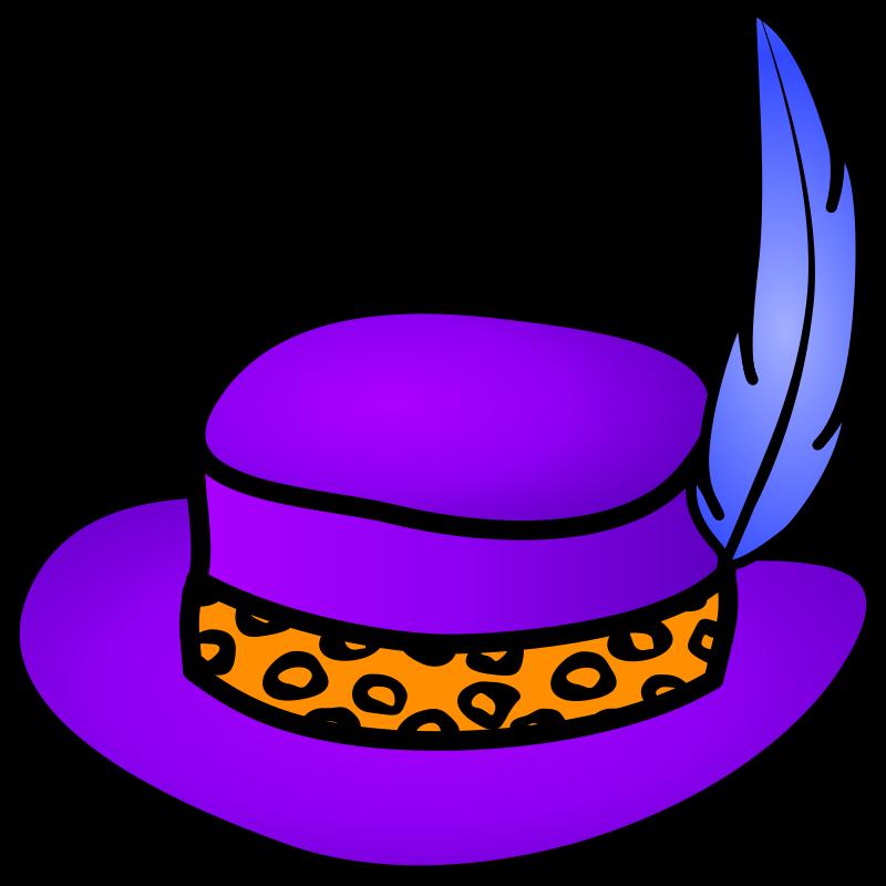 . PlusPng.com Violet Free Pimp hat PlusPng.com  - Violet Objects PNG
