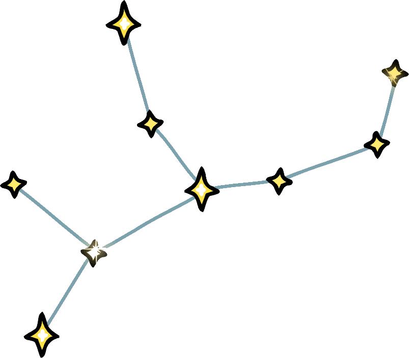 Virgo Stars.png - Virgo PNG