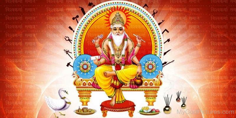 Lord Vishvakarma Picture-mv40