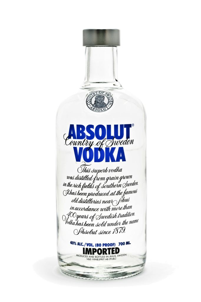 File:Absolut vodka bottle.png - Vodka HD PNG