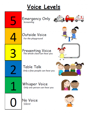 Voice Level Graphics PBIS