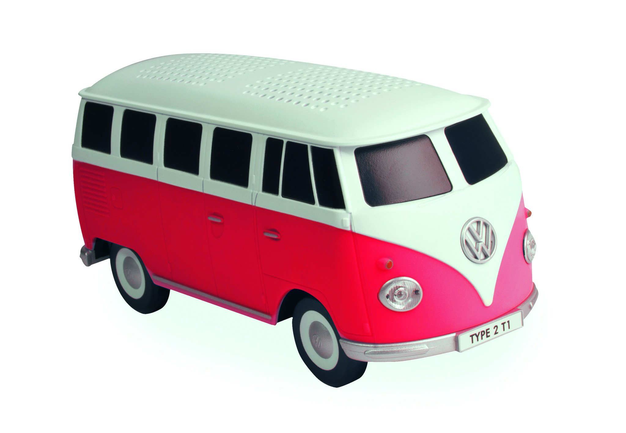 Bluetooth USB Volkswagen Type 2 Red Camper Speaker - Volkswagen Busje PNG