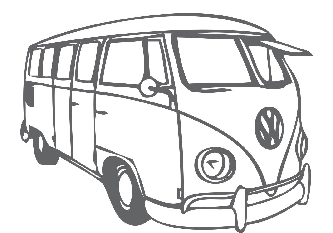 VW Bus - Volkswagen Busje PNG