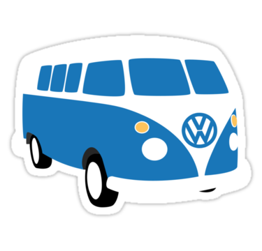 VW Bus sticker. u0027 - Volkswagen Busje PNG