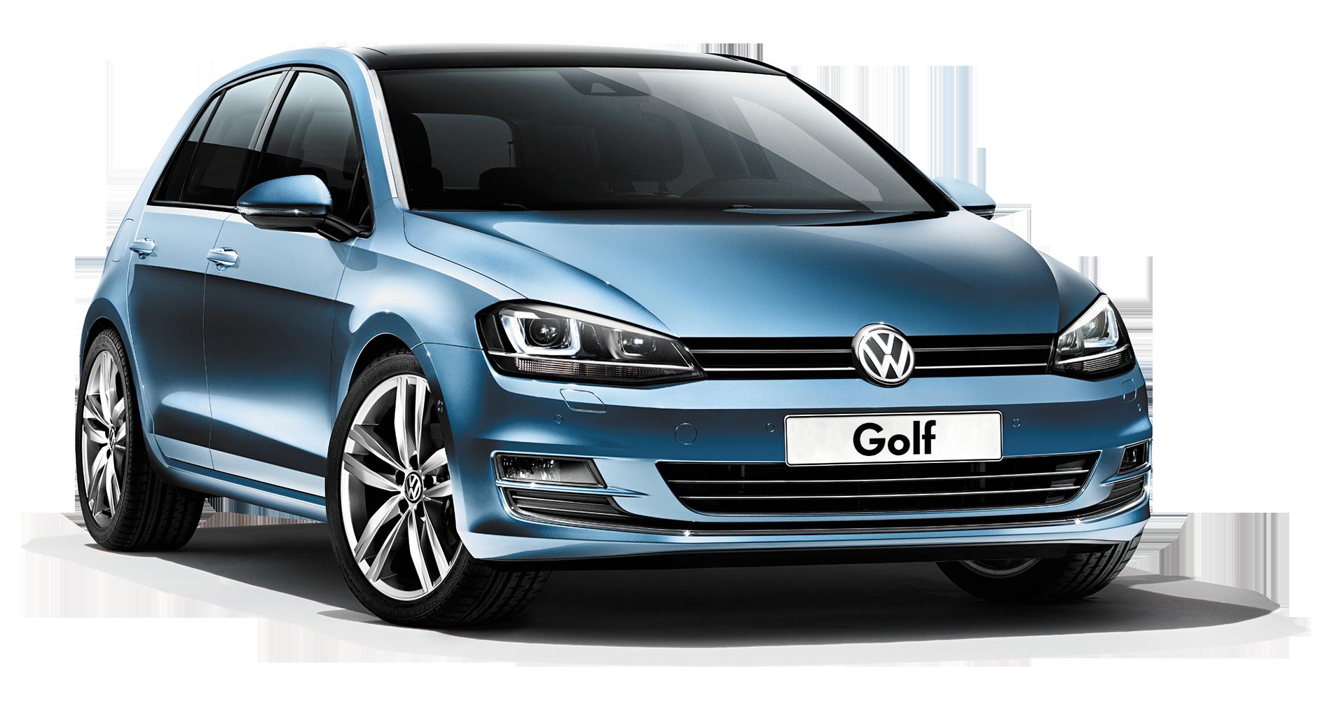 blue Volkswagen Golf PNG car image - Volkswagen PNG