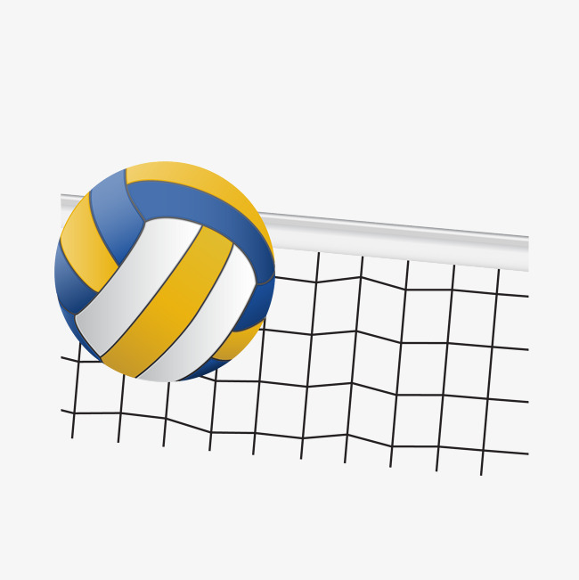 Volleyball and volleyball net